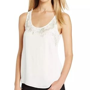 French Connection Top Lace Beaded Blouse $168.00 S